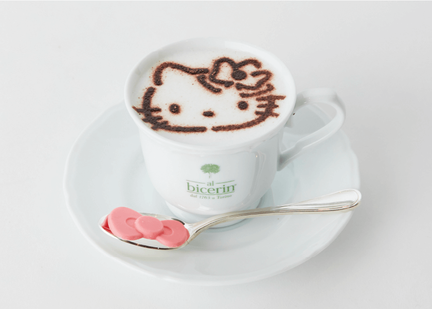 Bicerin × Hello Kittyスペシャルカプチーノ